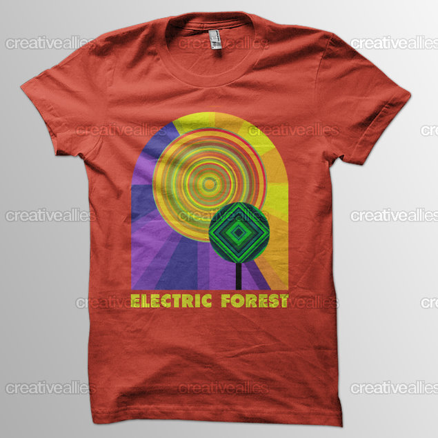 Electric Forest Merchandise Graphic By Mdoulin