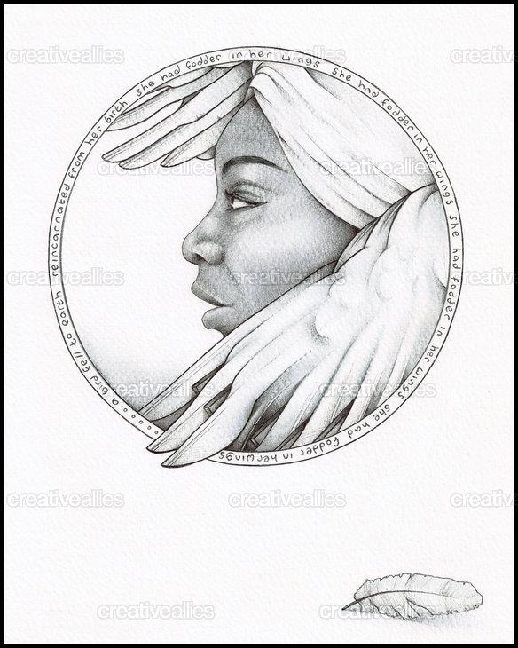 Nina_simone_commemorative_poster_art_no_autograph_chris_r._wright_ballpoint_pen_ink