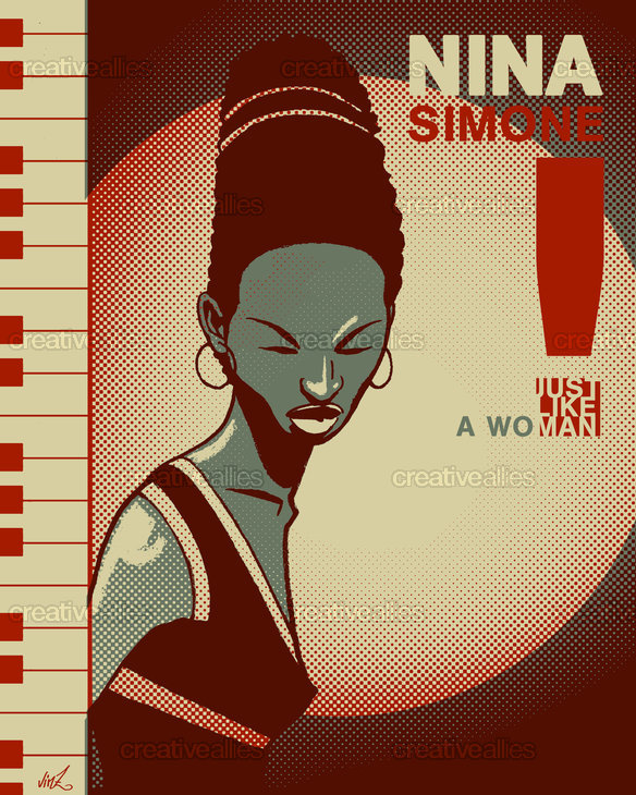Nina Simone Poster by vinz 6eko on CreativeAllies.com