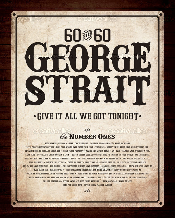 Georgestrait60for60