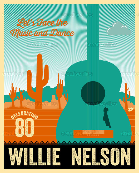 Willie Nelson Poster by Lorenzo Belmonte on CreativeAllies.com