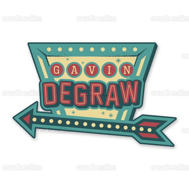 Gavin DeGraw Merchandise Graphic by Wade Ryan on CreativeAllies.com