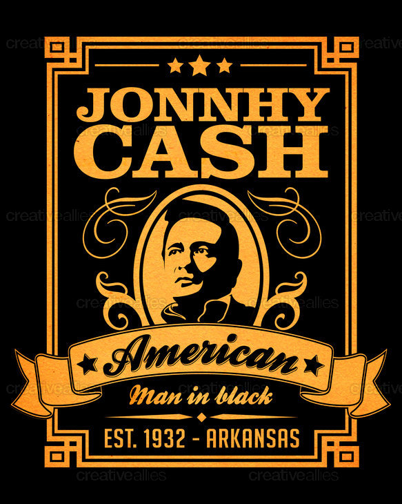 johnny cash poster by luca orsi. Black Bedroom Furniture Sets. Home Design Ideas