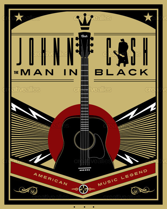 Johnny Cash Poster by Lorenzo Belmonte on CreativeAllies.com