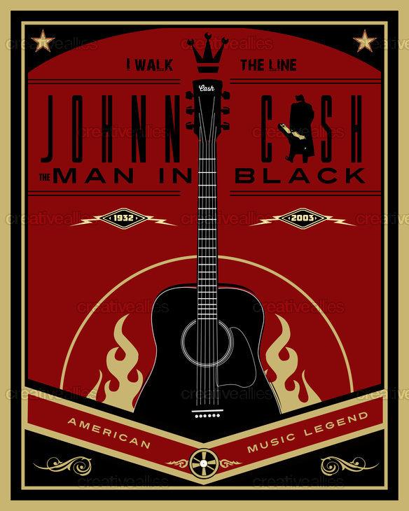 Johnny Cash Poster by Lorenzo Belmonte on CreativeAllies.com