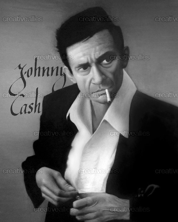 Johnny cash poster by jan zawisza alvarez on creativeallies com