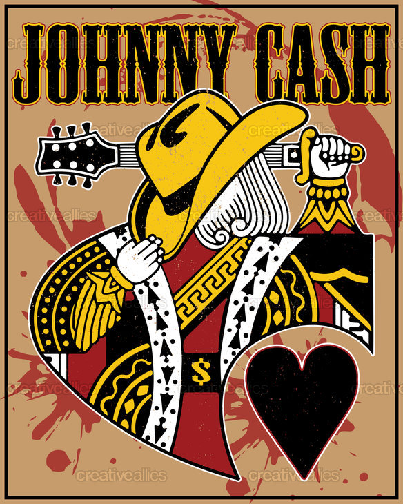 johnny cash poster by dannydoobie. Black Bedroom Furniture Sets. Home Design Ideas