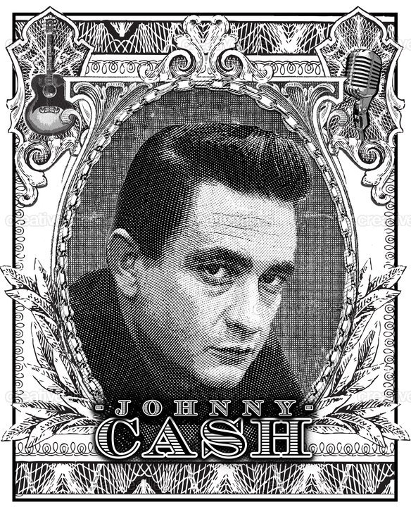 johnny cash poster by cantlebary. Black Bedroom Furniture Sets. Home Design Ideas