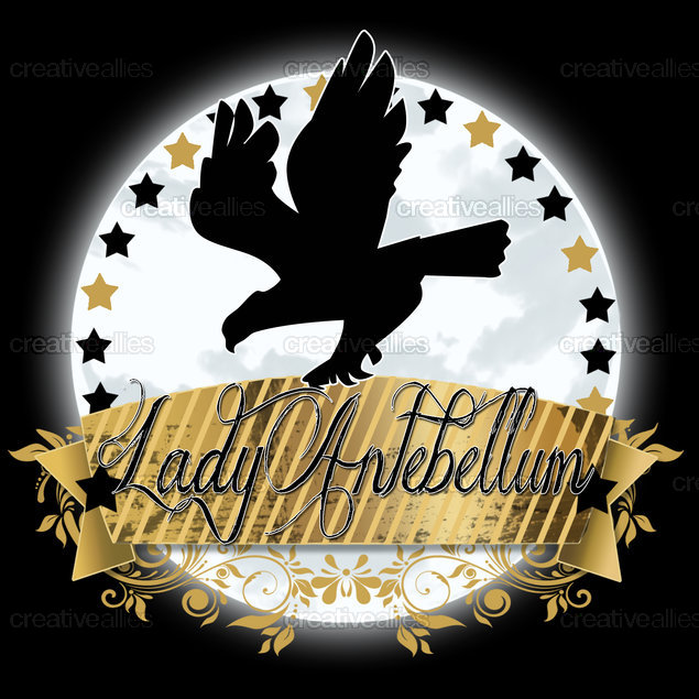 Lady Antebellum Merchandise Graphic by Designer Emvy on CreativeAllies.com