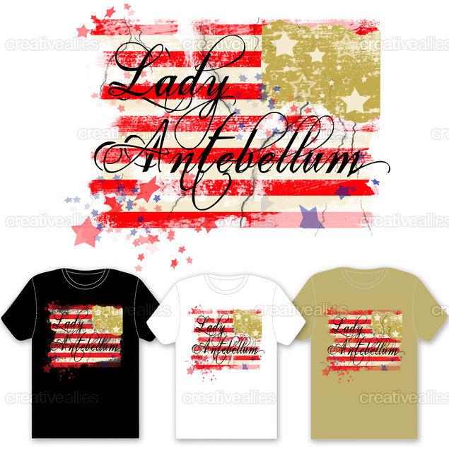 Lady Antebellum Merchandise Graphic by Designer Emvy on CreativeAllies.com