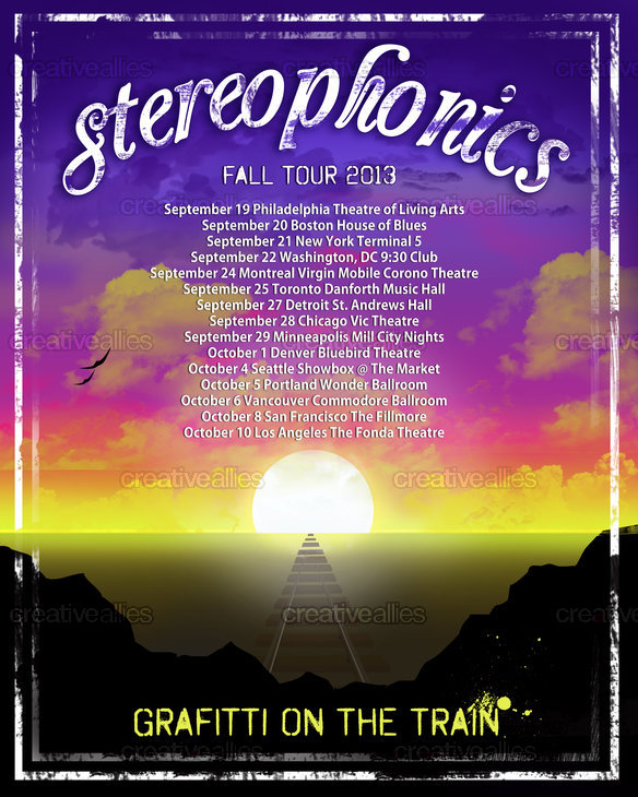Stereophonics Poster by Designer Emvy on CreativeAllies.com