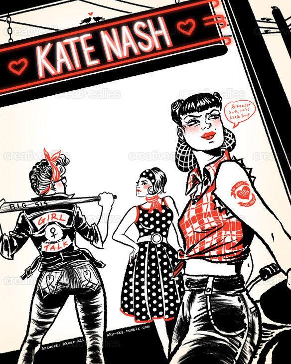 Kate_nash_poster_art_akbar_ali