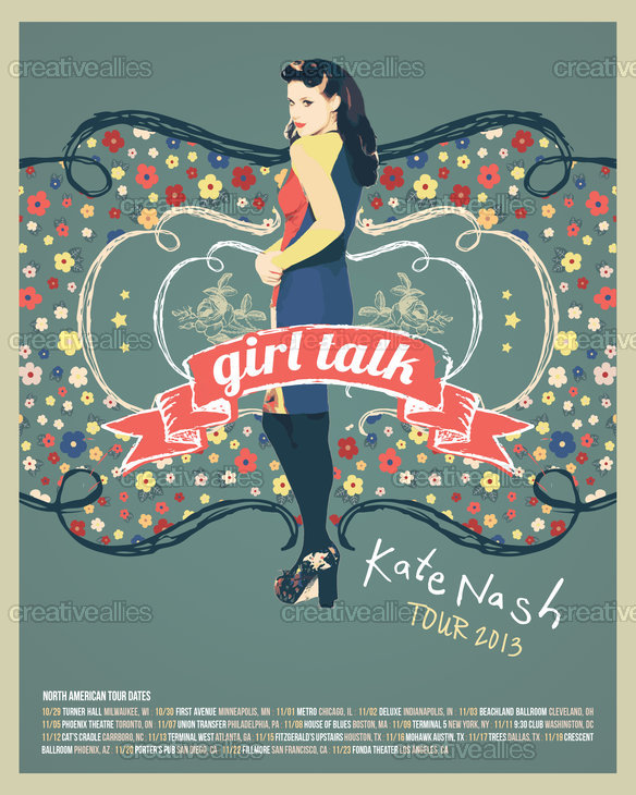 Kate Nash  Poster by Mike on CreativeAllies.com