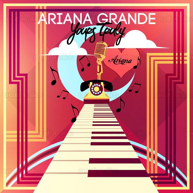 ariana grande album cover by romel jhan biescas