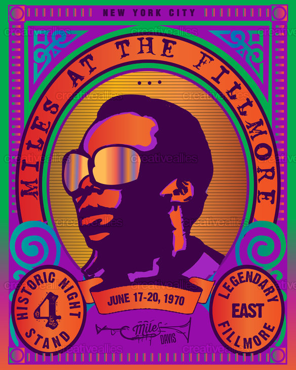 Miles At The Fillmore Poster by Lorenzo Belmonte on CreativeAllies.com