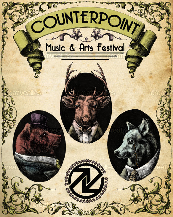 CounterPoint Music and Arts Festival Poster by Nate Frost on CreativeAllies.com