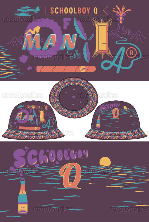 ScHoolboy Q Merchandise Graphic by golemone on CreativeAllies.com