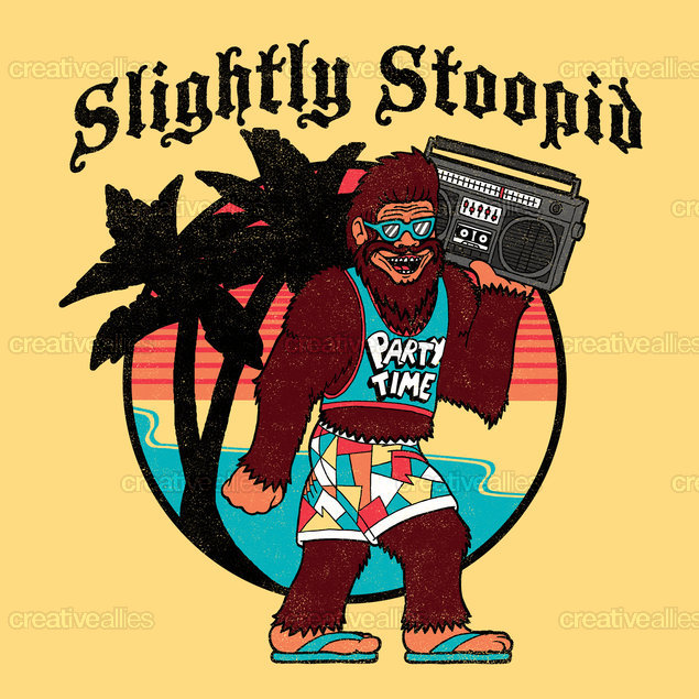 Slightly Stoopid Merchandise Graphic by SteveOramA on CreativeAllies.com