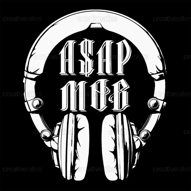 A$AP Mob Merchandise Graphic by Jon A. Baker on CreativeAllies.com