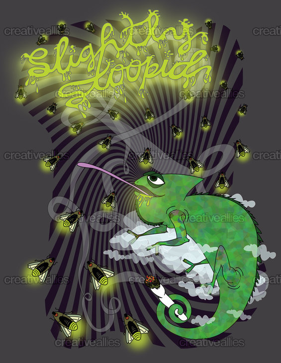 Slightly Stoopid Merchandise Graphic by laidbacklizard on CreativeAllies.com