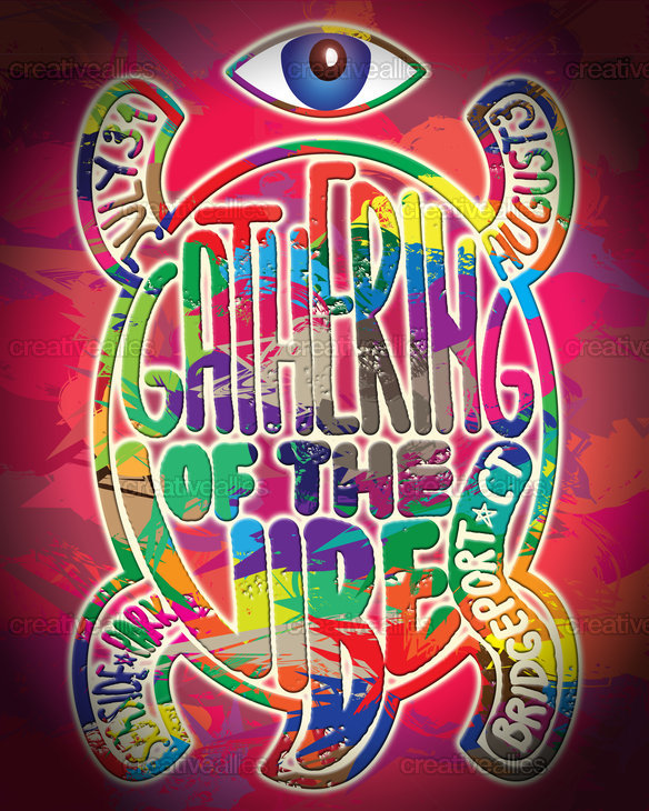 Gathering Of The Vibes Music Festival Poster by Denis Ivanov on CreativeAllies.com