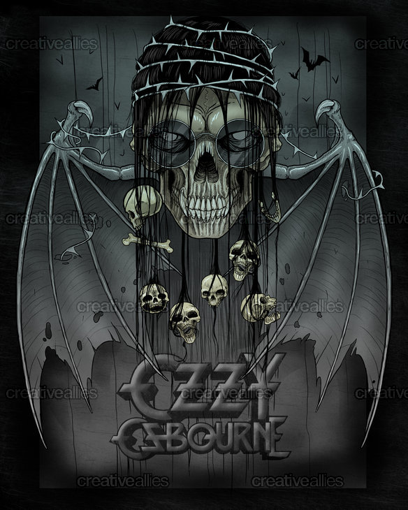 Ozzy Osbourne Poster By Eriotoman