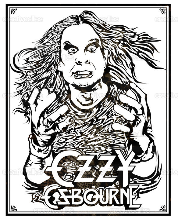 Ozzy Osbourne Poster by Nukui Bogard on CreativeAllies.com