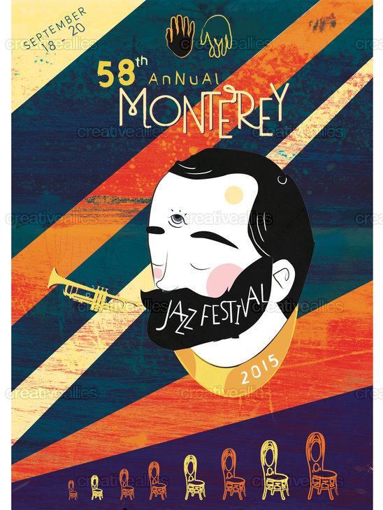 Monterey Jazz Festival Poster by T Kloed