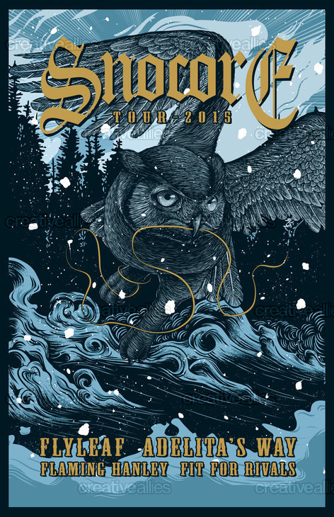 SNOCORE Tour Print by BhayuAka on CreativeAllies.com