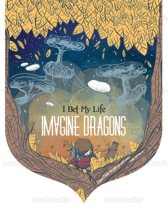 Imagine Dragons Poster by Esse on CreativeAllies.com