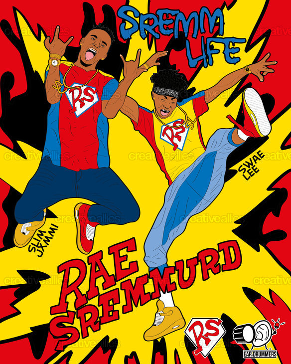 Rae Sremmurd Poster by Denis Ivanov on CreativeAllies.com