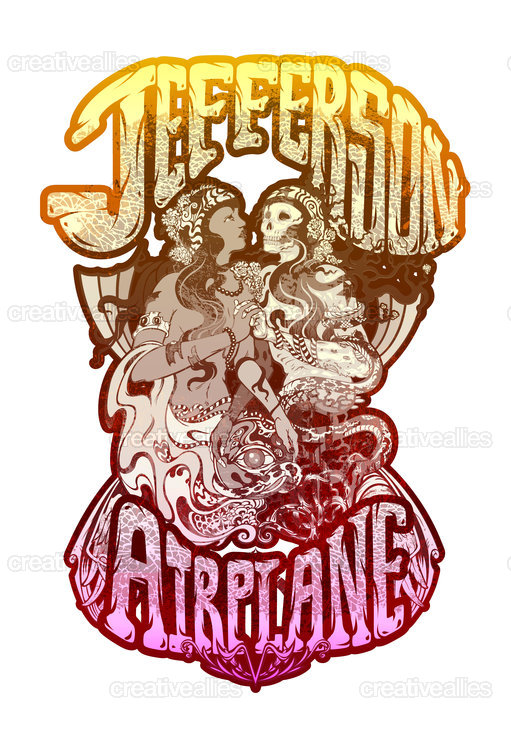 Jefferson Airplane Merchandise Graphic by Beery Method on CreativeAllies.com
