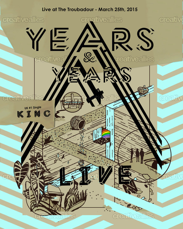Years & Years Poster by La Isla Indigo on CreativeAllies.com