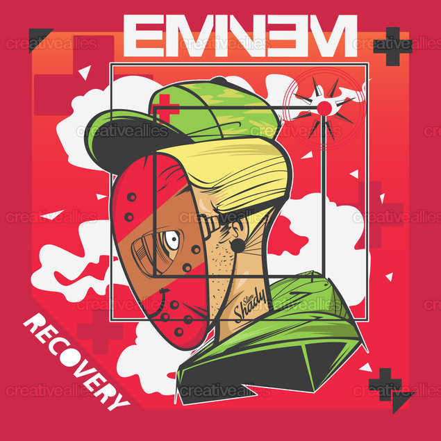 Eminem Album Cover by Robi Hendra Kurniawan on CreativeAllies.com