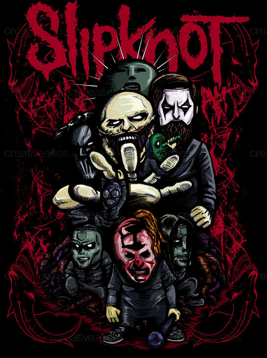Slipknot Merchandise Graphic by Nukui Bogard on CreativeAllies.com