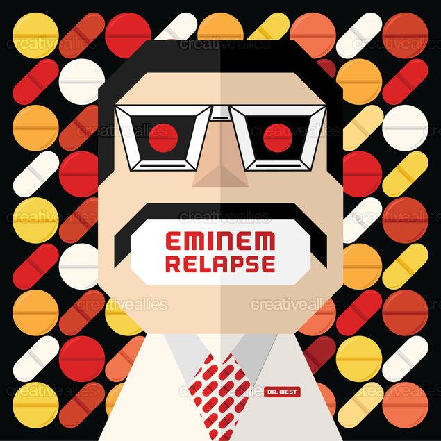 Eminem Album Cover by michaeletto on CreativeAllies.com