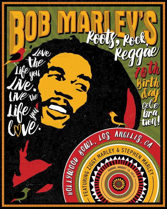 Bob Marley Poster By Kim Mesman On CreativeAllies