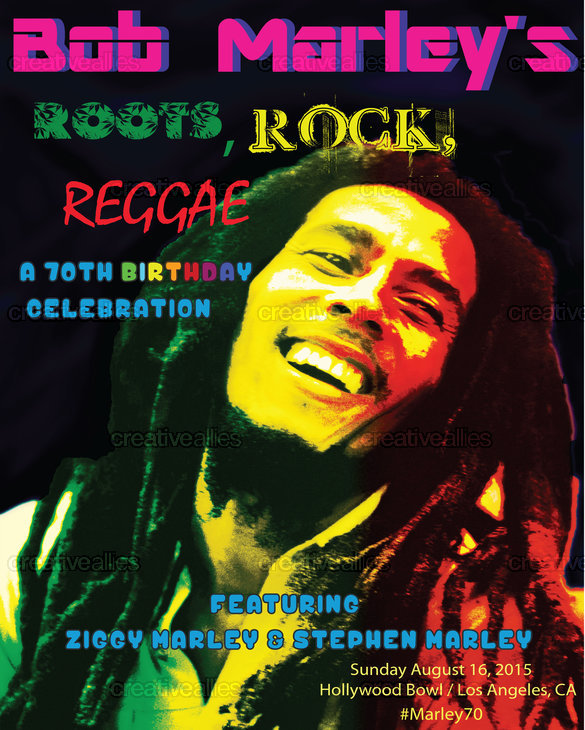Bob Marley Poster By Gene Boren On CreativeAllies