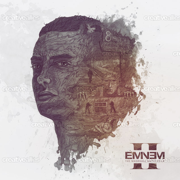 Eminem Album Cover by hellopowell on CreativeAllies.com