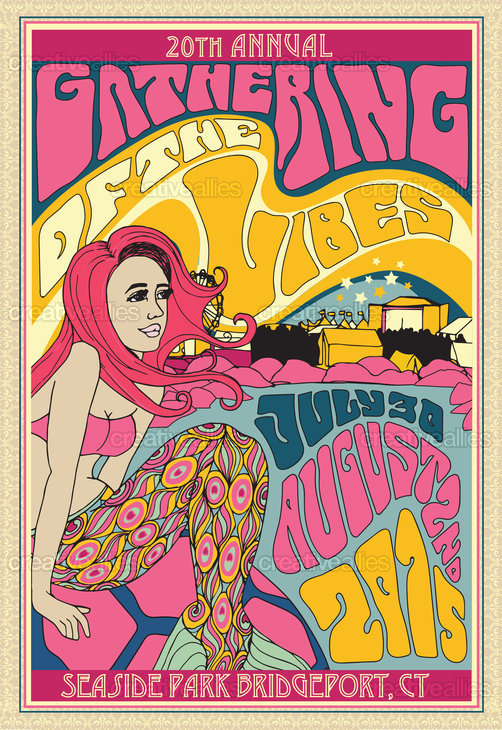 Gathering Of The Vibes Music Festival Poster by M ✝ H on CreativeAllies.com