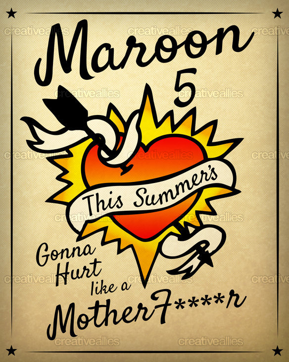 Maroon 5 Poster by PROVENOTHING. on CreativeAllies.com