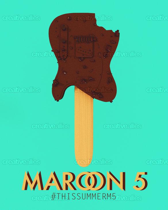 Maroon 5 Poster by Andreia Calhau on CreativeAllies.com