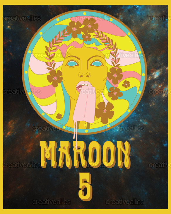 Maroon 5 Poster by Tolani Lightfoot Design on CreativeAllies.com