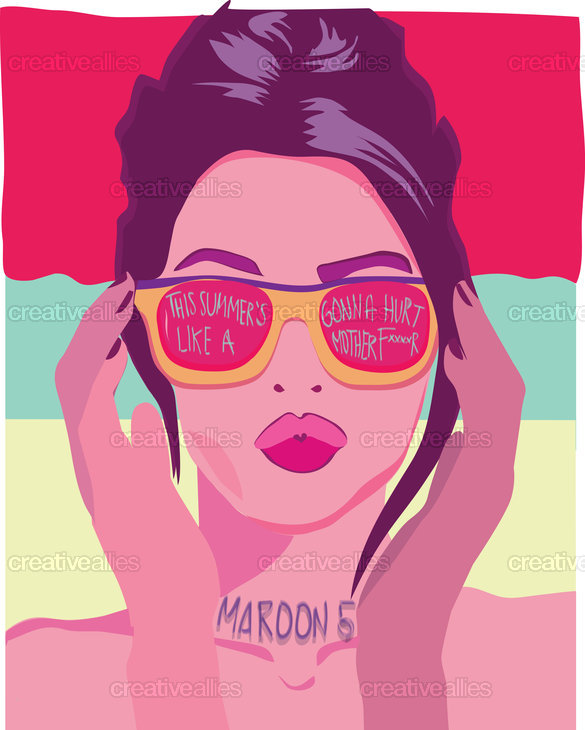 Maroon 5 Poster by lauluc on CreativeAllies.com