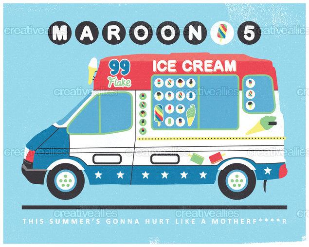 Maroon 5 Poster by Caitlin McEvoy on CreativeAllies.com