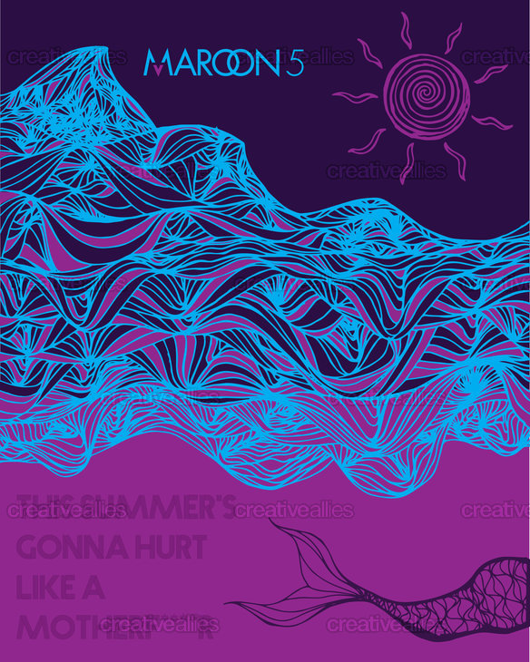 Maroon 5 Poster by Ada Parnanen on CreativeAllies.com
