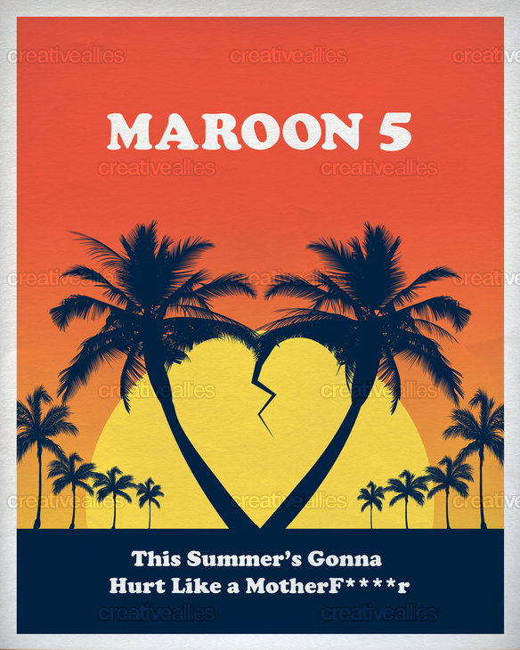 Maroon 5 Poster by Hunter Langston on CreativeAllies.com