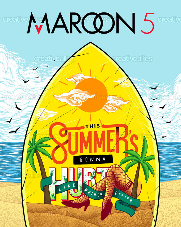 Maroon 5 Poster by GREART on CreativeAllies.com