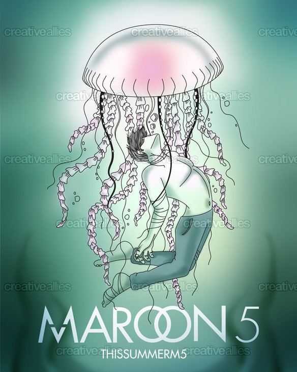 Maroon 5 Poster by Maria on CreativeAllies.com