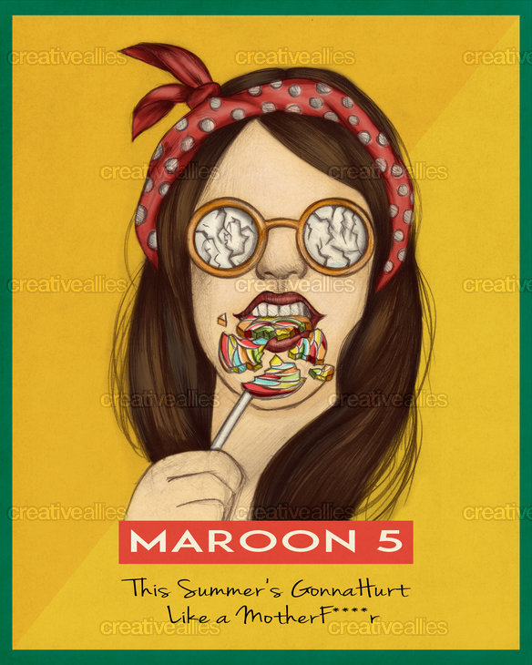 Maroon 5 Poster by Adrian2p on CreativeAllies.com